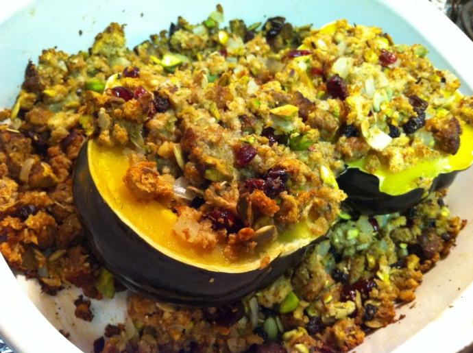 Acorn squash stuffing