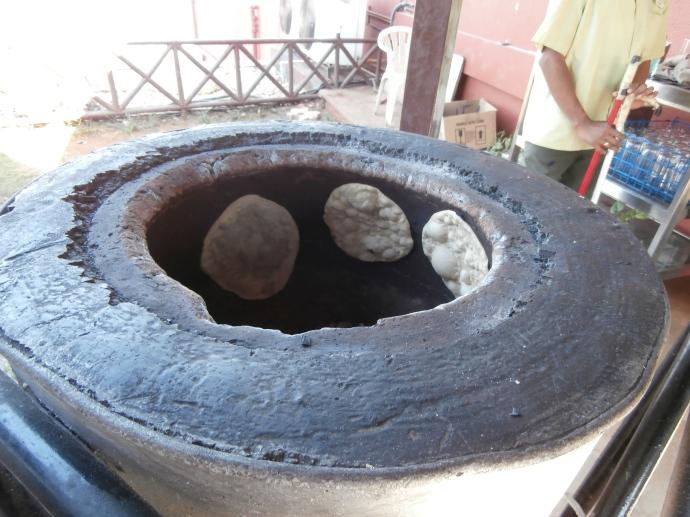 Indian bread, naan, cooking kiln