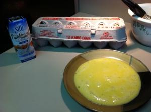 almond milk, egg, french toast
