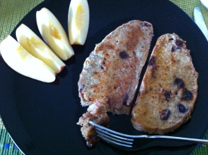 french toast, apples, breakfast