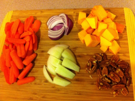 main ingredients for roasted vegetables