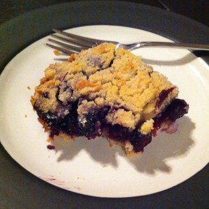 Single piece of blueberry bars