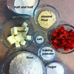 Strawberry scone ingredients