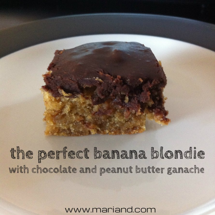 the perfect banana blondie, for the love of food, marianhd