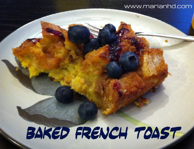 Baked French Toast, recipes, brunch, breakfast