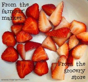 local versus grocery store