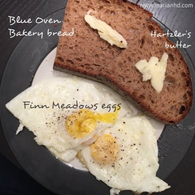 eggs and toast, local food, meatless Monday, marianhd.com