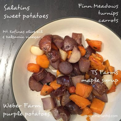 roasted veggies, marianhd.com, meatless Monday